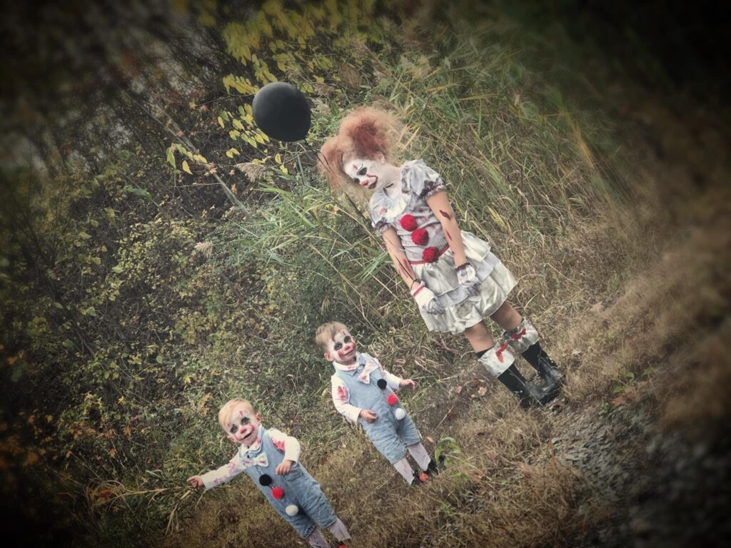 The clowns in the woods. Yikes!